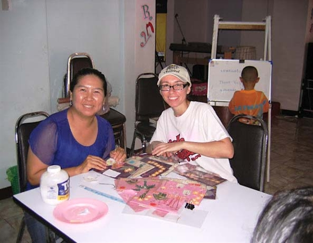 Teacher Pui and TMM missionary Christine Villa are close friends as they work together as staff at Blessing Home.